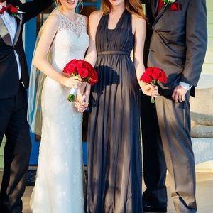 David's Bridal grey gown-Prom, wedding, Halloween
